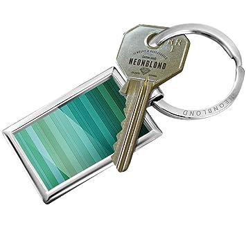 Amazon.com: Llavero, verde, azul diseño de rayas/patrón ...