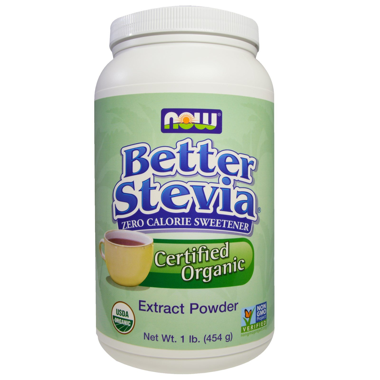 Now Foods, Organic Better Stevia, Extract Powder, 1 lb (454 g) - 3PC by NOW Foods