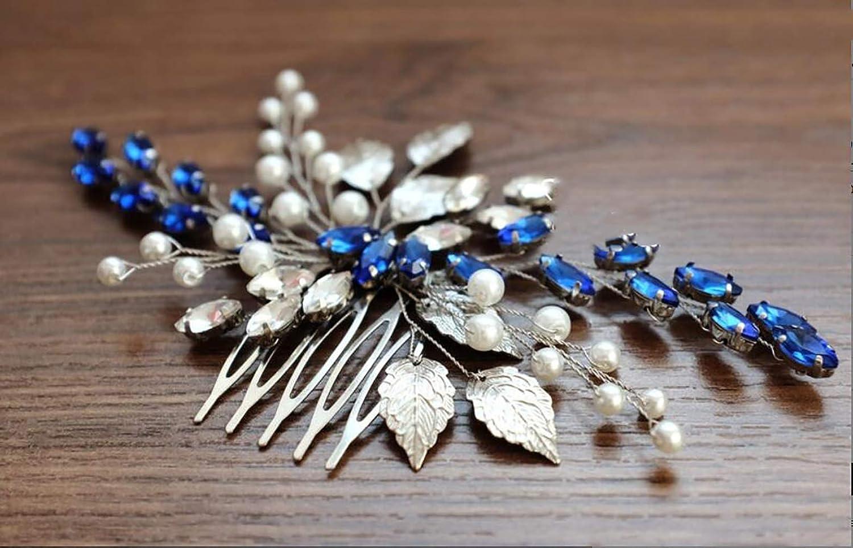 Belym piel aut/éntica Peine m/édico para mujer color azul marino
