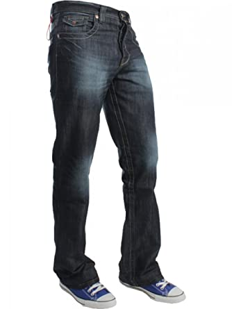 7efe2c3f347 New Mens Flared Bootcut Denim Jeans Blue Wide Leg King All Waist Sizes A31   Amazon.co.uk  Clothing