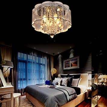 CRYSTOP LED Modern Tiffany Art Deco Crystal Chandelier Lighting Pendant Flushmount Ceiling Light Fixtures Lamp