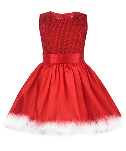 uhnice girls sequin princess dress christmas party dress 2t red
