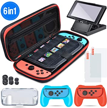 BEBONCOOL Funda de transporte para Nintendo Switch, 6 en 1, funda ...
