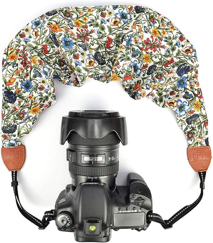LIFEMATE Scarf Camera Strap,DSLR Camera Strap Universal Neck Strap,Fabric of Bohemia Floral Scarf Camera Strap Style 55