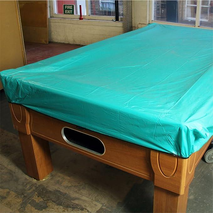 Funda Impermeable de Vinilo Resistente para mesas de Billar de 2,13 m, Color Turquesa: Amazon.es: Deportes y aire libre