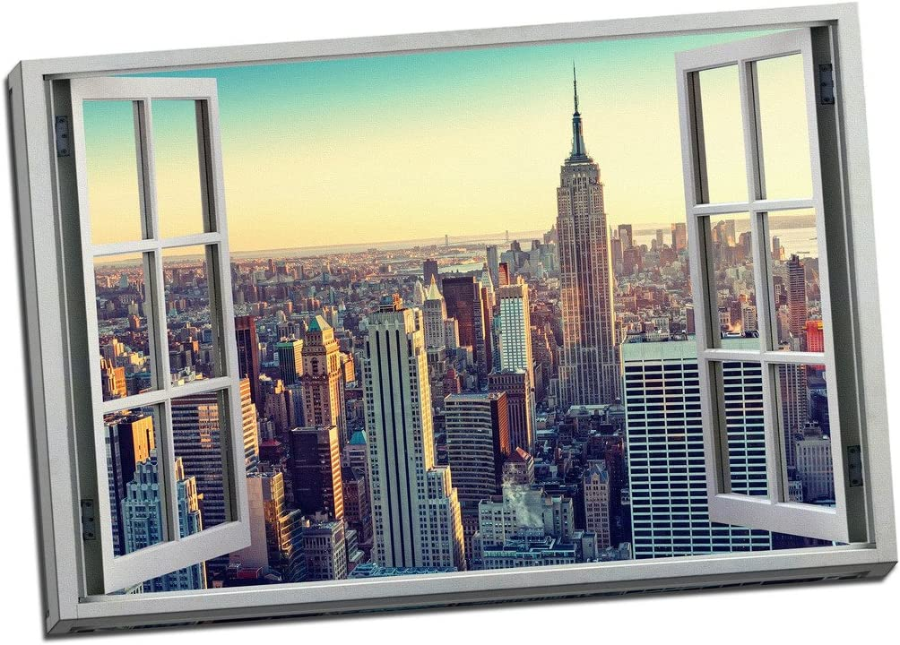 New York Cityscape Canvas Print Large Picture Wall Art