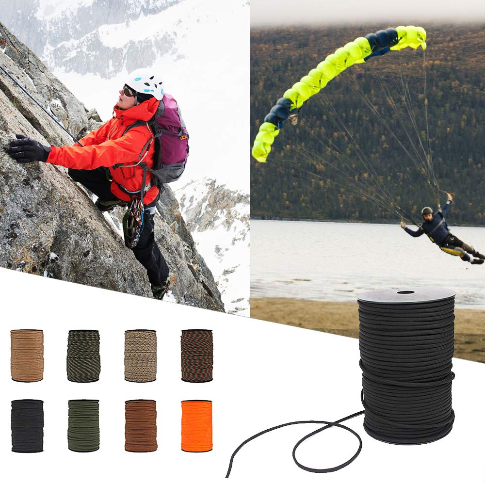 Festnight 100M 550 Type Parachute Cord Paracord Lanyard Rope 9 Strand Cores Rescue Tent Hiking Rope Roll