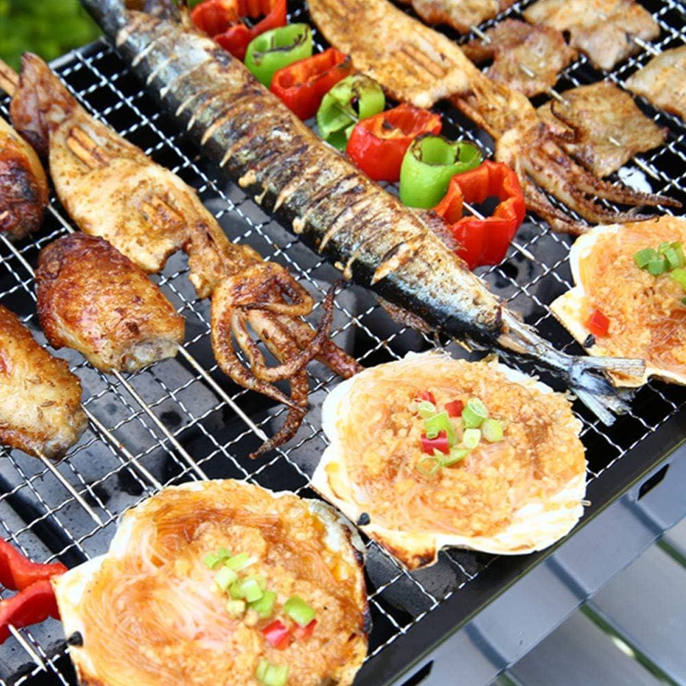 MENG Set di Attrezzi Pieghevoli per Barbecue A Carbone Portatile per Barbecue A Griglia, per Picnic All'aperto in Giardino, 35 * 27 * 20 Cm,XX X