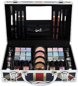 Gloss - caja de maquillaje, caja de regalo para mujeres - Caso de maquillaje de belleza Caja de Londres - 40pcs: Amazon.es: Belleza