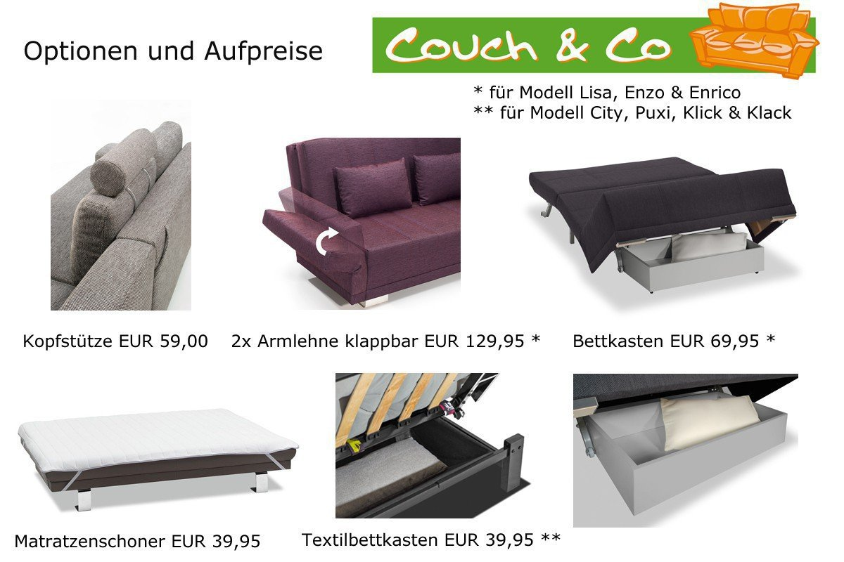 Schlafsessel Schlafsofa Couch Liegesessel Funktionssessel Enzo 80 F