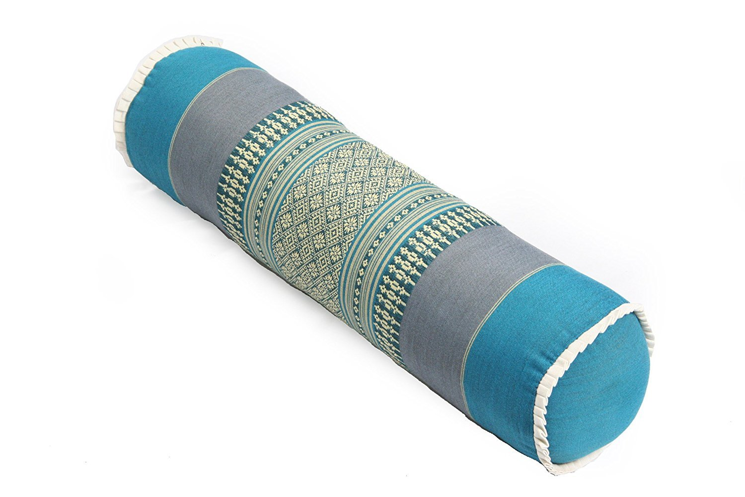 Thailand: Bolster Pillow Blue, Striped Thailand, Size: 19.5''x 5.5'' inches By Conserve Brand by Conserve's OTOP