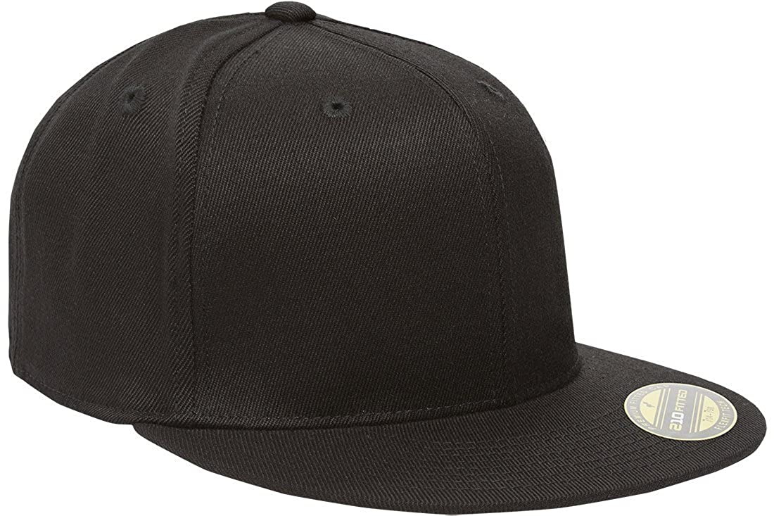 a95c71ea0fcc1 Amazon.com  Flexfit Premium 210 Fitted Flat Brim Baseball Hat  Clothing