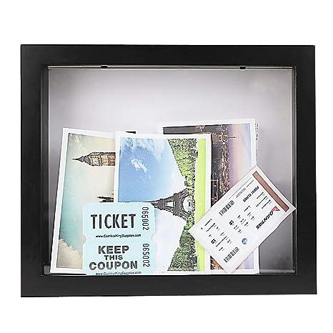 Amazon.com: Ticket Collection Shadow Box -Solid wood - Black ...