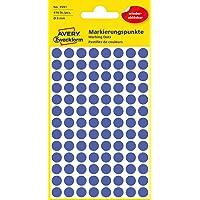 AVERY Zweckform 3591 zelfklevende markeringspunten (Ø 8 mm, 416 verwijderbare plakpunten op 4 vellen, ronde stickers…