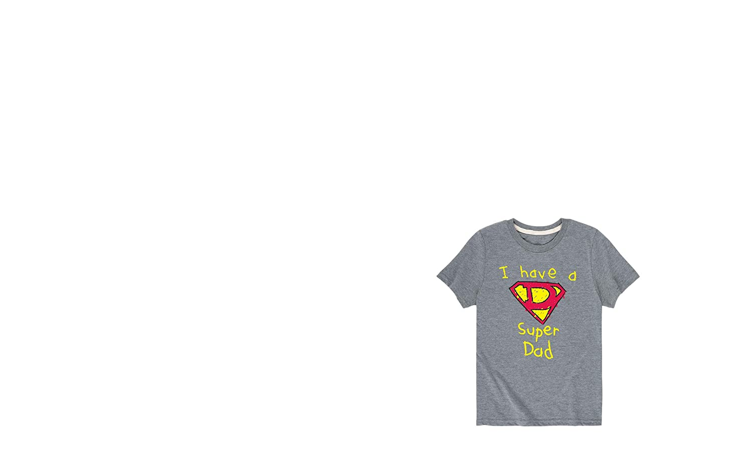 Instant Message I Have A Super Dad Toddler Short Sleeve Tee