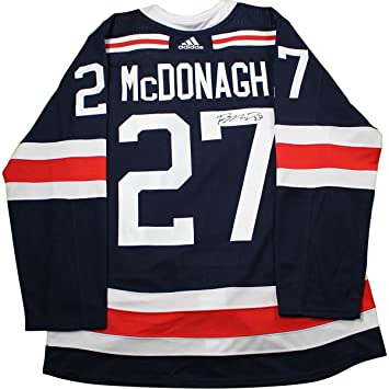 Ryan McDonagh New York Rangers Signed 2018 NHL Winter Classic Jersey ... e5ceee6db23