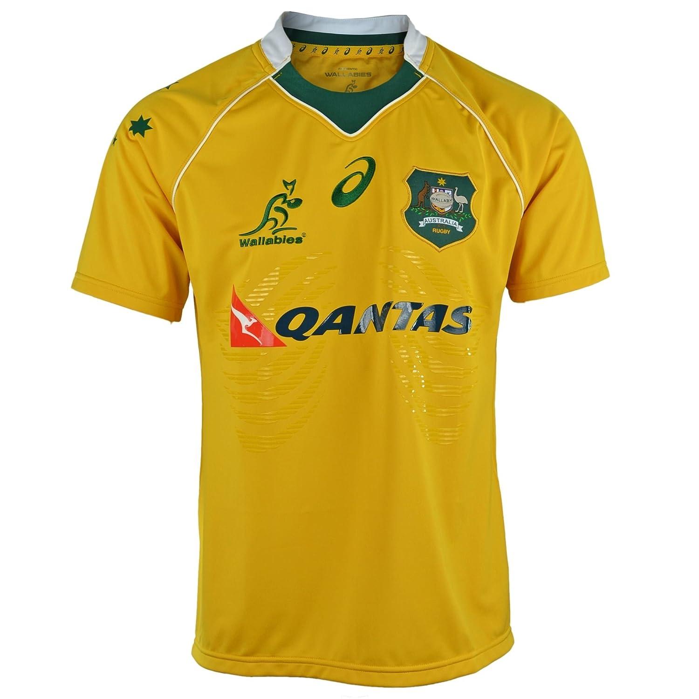 facf240d28e Asics Australia Wallabies Home Pro Replica Rugby Shirt 2XL: Amazon.co.uk:  Sports & Outdoors