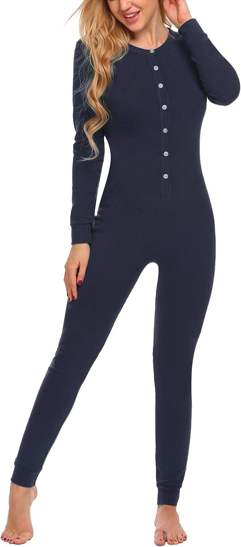 UNibelle Donna Abbigliamento Termico Tuta Pagliaccetto Onesie Underwear Sleepwear T-Shirt Termica con Intimo Termico S-XXL