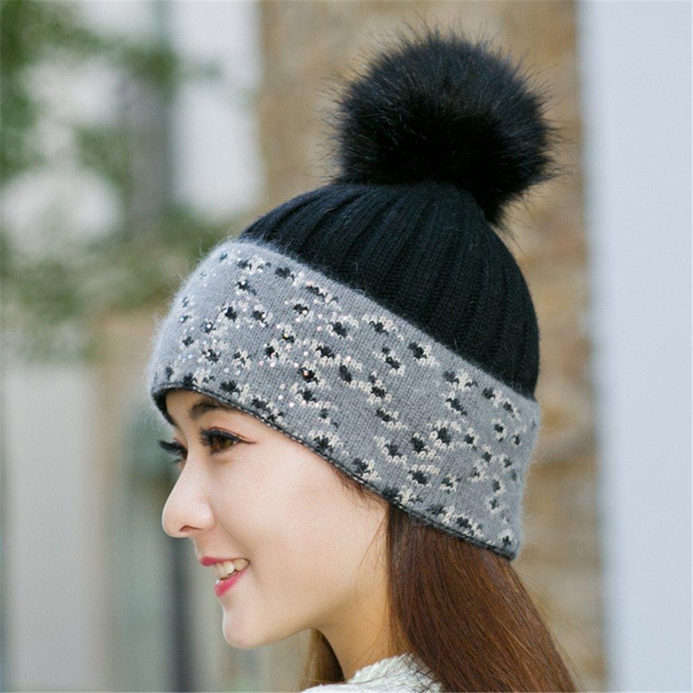 Sombreros de mujer, señoras, invierno, invierno leopard sombreros, gorros de lana, tejidos de invier...
