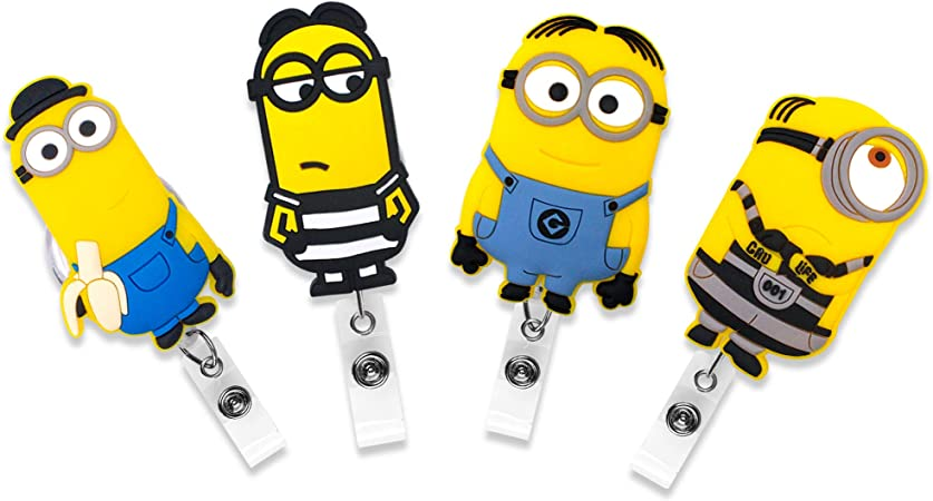 """Button Badge Holder Reel//Magnet//Pin 1.5/"""" Button Minion Doctor or Surgeon"""