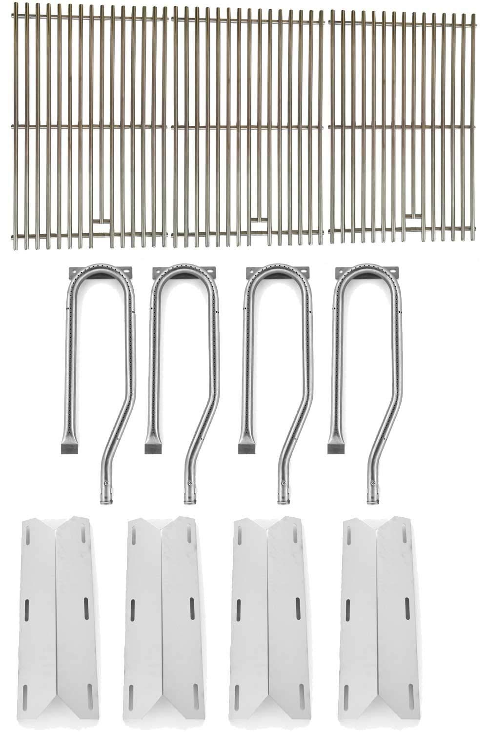 Jenn-Air 720-0337, 720-0586A, 720-0586A Gas Grill Repair Kit Includes 4 Stainless Heat Plates and 4 Stainless Steel Burners and Stainless Steel Grates by Grill Parts Zone (Image #1)