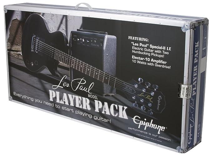 Pack Epiphone Guitar LP Special II LTD Ebony et ampli electar 15R Sets de guitarra de guitarra de sets: Amazon.es: Instrumentos musicales