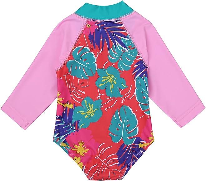 TiaoBug Infant Baby Girls Long Sleeves Zippered One Piece