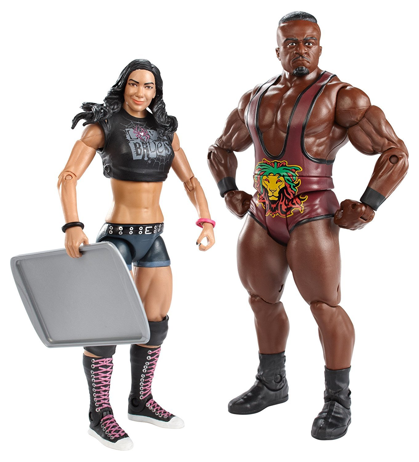 WWE Series #28 Big E Langston and AJ Lee Figure with Cookie Sheet (2-Pack) by Mattel