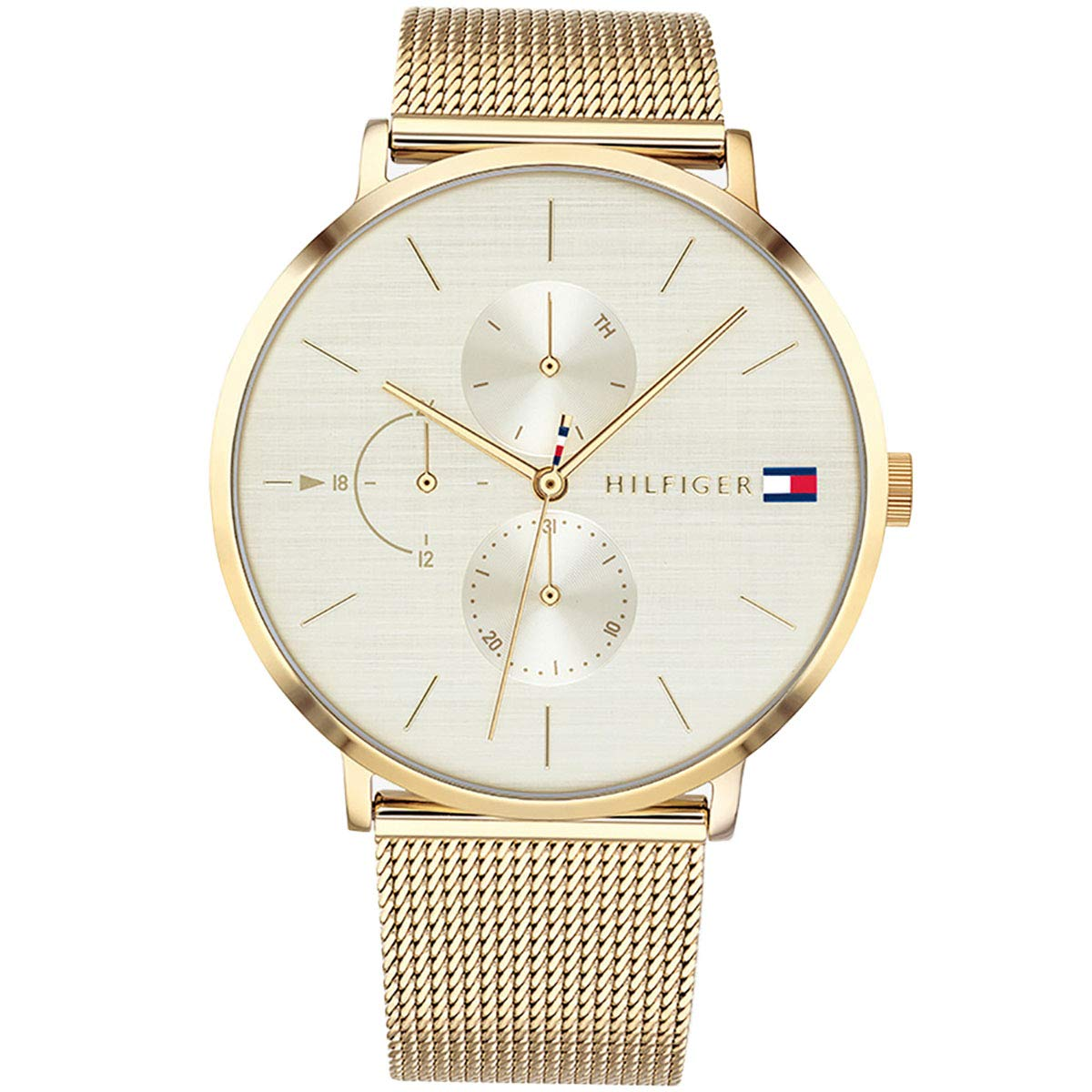 Amazon.com: 1781943 Tommy Hilfiger Jenna Ladies Analog White Sport Quartz Tommy Hilfiger: Watches