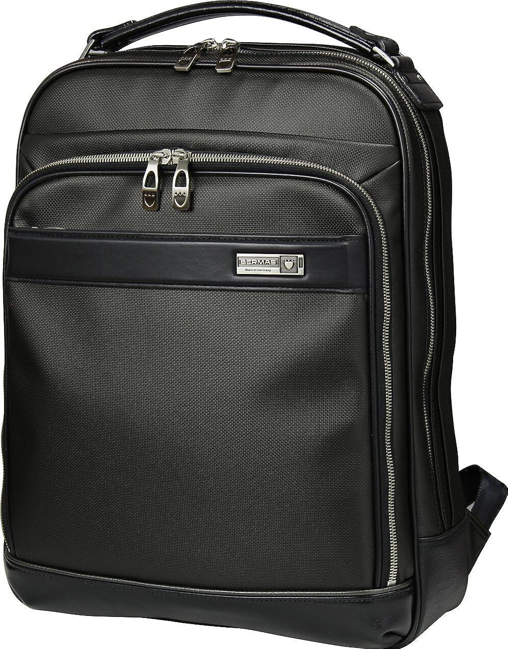 BERMAS バーマス M.I.J MADE IN JAPAN ビジネス 2way ビジネス リュックサック バックパック B4 日本製 豊岡鞄 ブラック 60038-BK B01I38XZMK