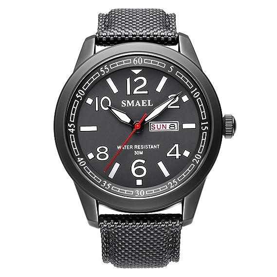 Beydodo Reloj Deportivo Reloj Quartz Reloj Multifunción Reloj Hombre Reloj Impermeable Relojes Calendario Negro Blanco