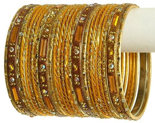 lacer dans sélectionner pour dernier en vente en ligne Amazon.com: Indian Bangles Set Ethnic Traditional Bracelets ...