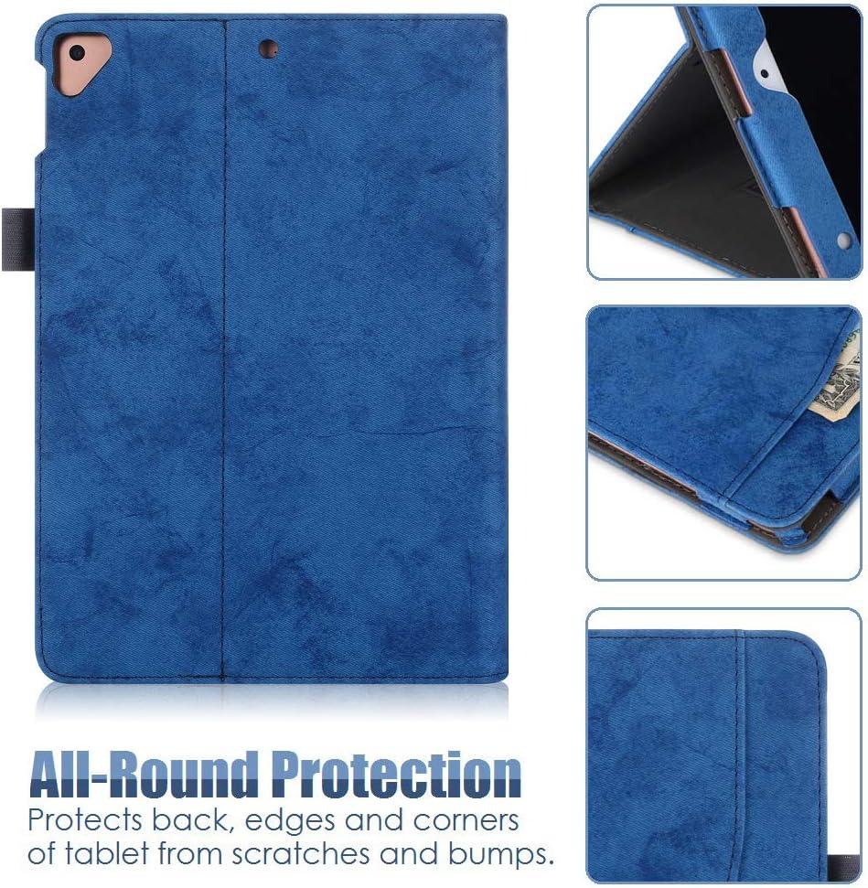 Funzione Auto Wake//Sleep per iPad 10.2 2019 Cinghia da polso Wineecy Custodia per iPad 7th Generation 10.2 2019 // iPad 10.2 Case Premium Leather Stand Folio Cover Case con tasca Multi-angolo
