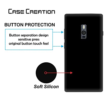 buy online f0e7d 02ad4 Case Creation Back Cover for OnePlus 2,Ultra Clear Thin Soft TPU Flexible  Black Silicone Cover Back Case for OnePlus 2 /One Plus 2