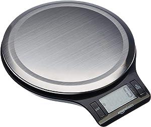 Balance de cuisine numérique, sans bisphénol A, en acier inoxydable avec affichage LCD (piles fournies)