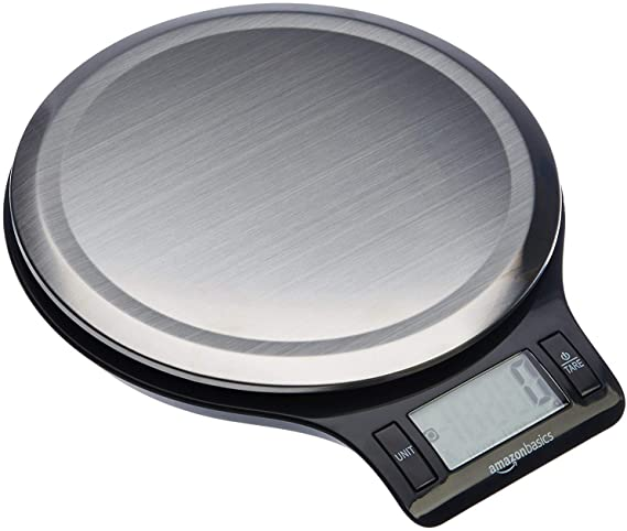 Amazon Basics Stainless Steel Digital Kitchen Scale with LCD Display