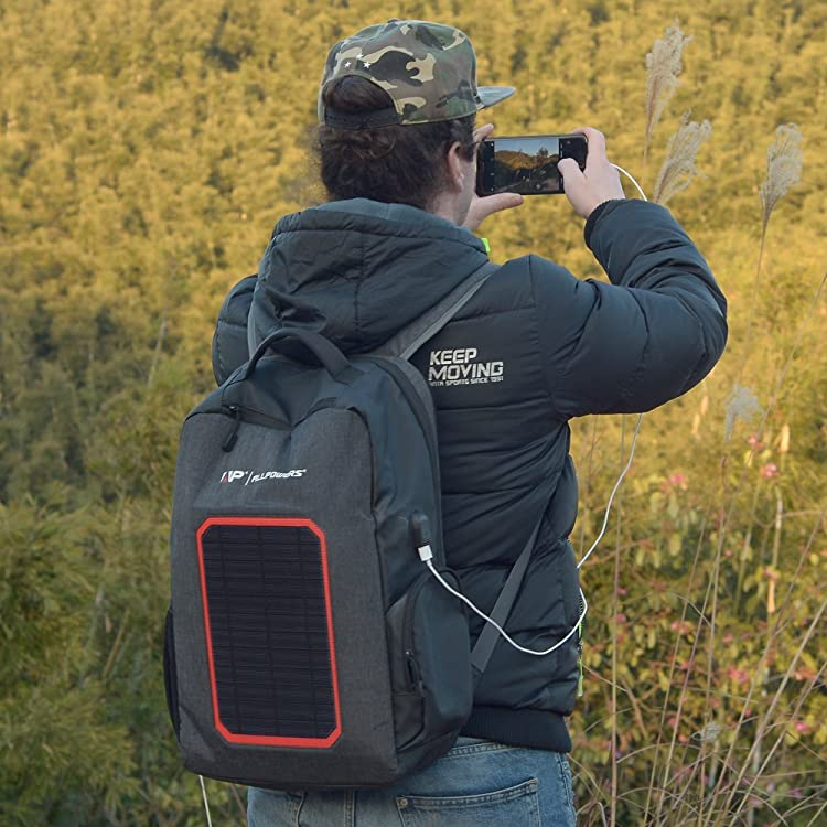 best solar backpack-ALLPOWERS Solar Backpack with Built-in 7W Solar Panel