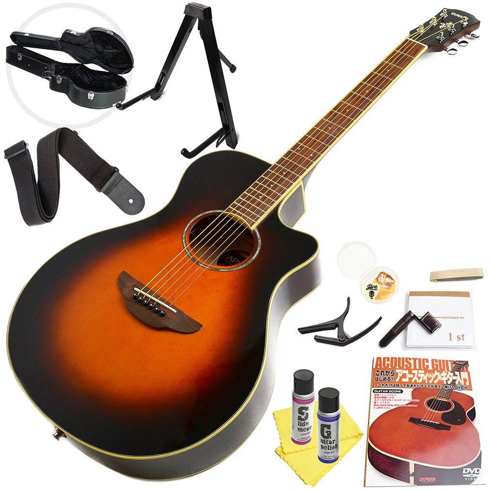 ヤマハ アコースティックギター 初心者セット YAMAHA APX600 OVS オールドバイオリンバースト エレアコ 14点 入門セット ハードケース付属  OVS(ビンテージサンバースト) B079Y7ZVFR