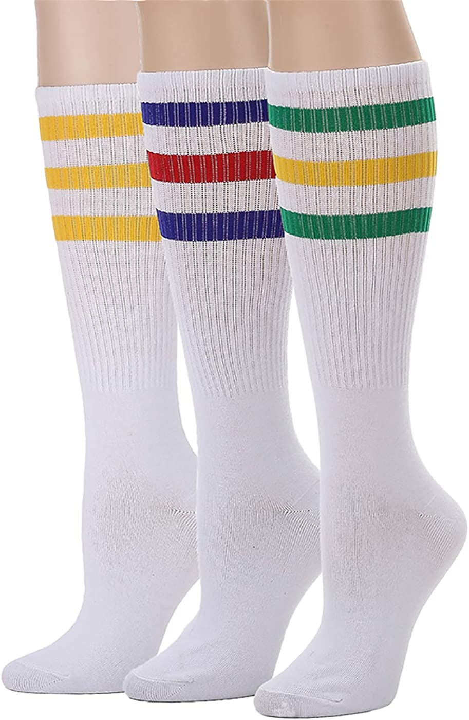 Leotruny 3 Pairs Over the Calf Tube Socks