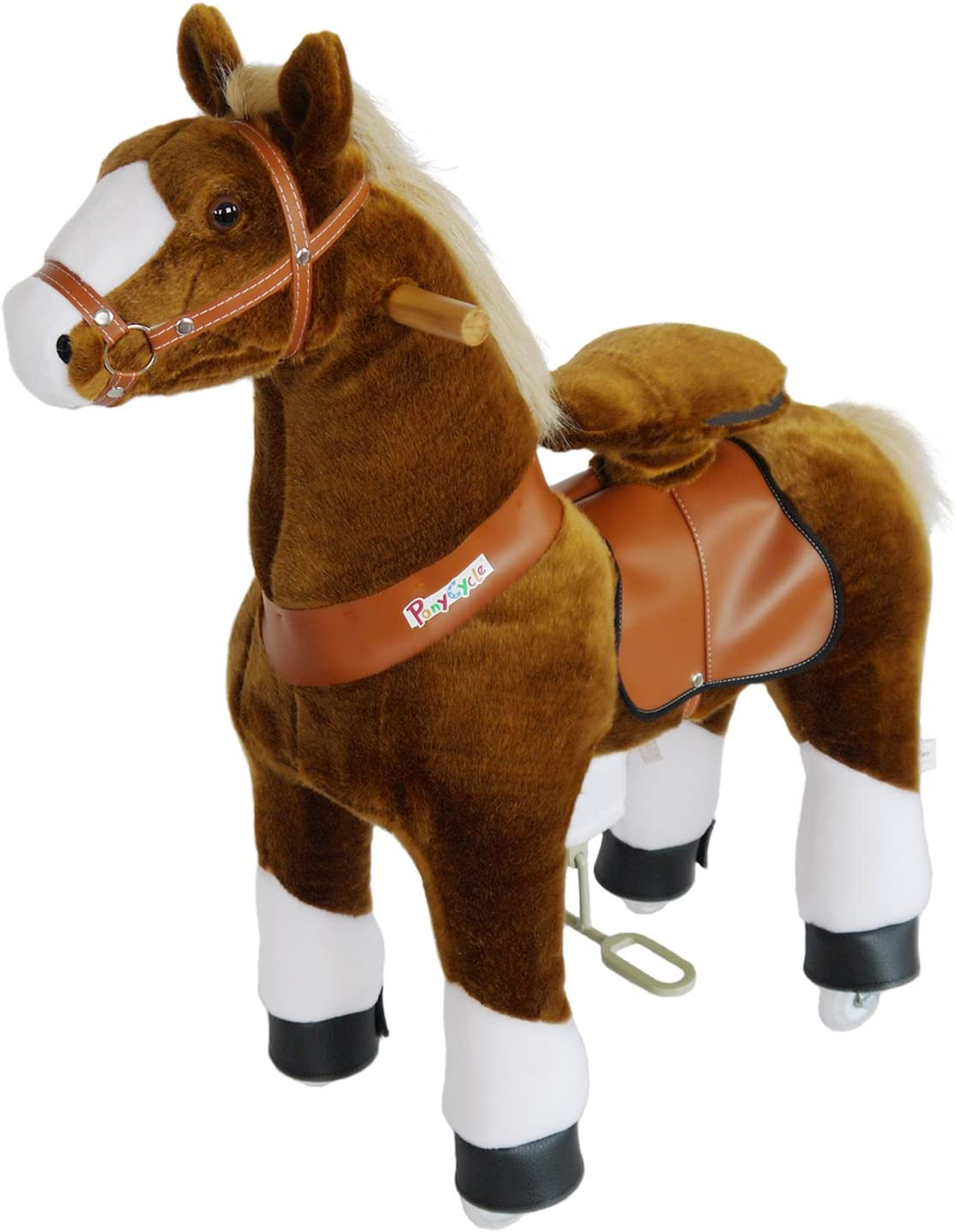 PonyCycle N4151 Juguete de Montar Juguetes de Montar (Apertura por Empuje, Animal para Montar, 4 año(s), 4 Rueda(s), Marrón, Niño)