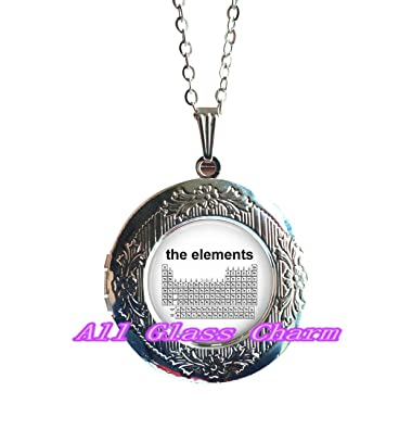 Amazon charming locket necklace beautiful locket necklace charming locket necklacebeautiful locket necklaceperiodic table of the elements science jewelry urtaz Image collections