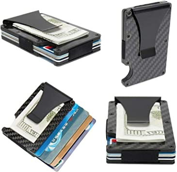 Slim Stainless Steel Men Purse Cash Money Clip Wallet Credit Card ID Holder