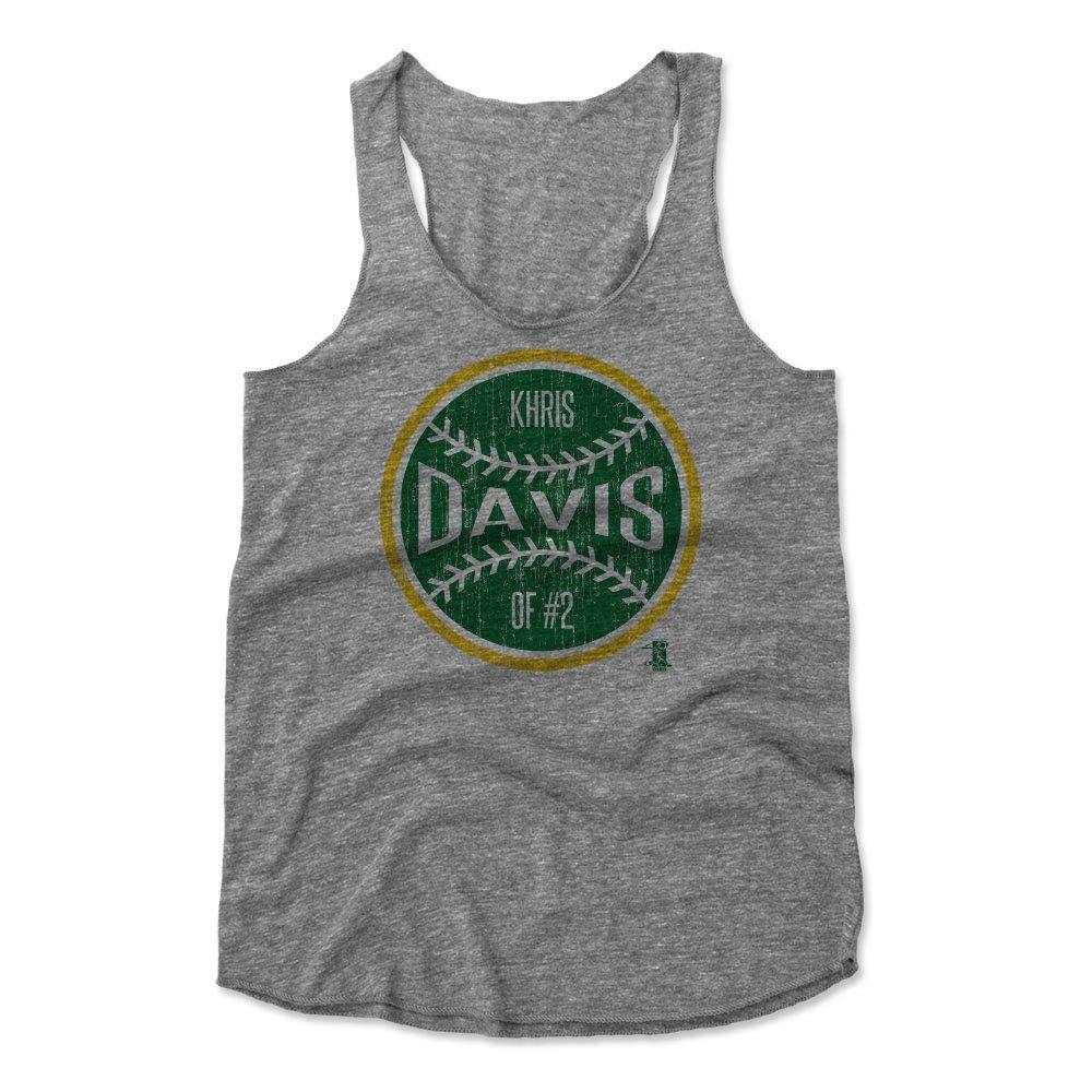 500レベルのKhris Davisレディースタンクトップ – Oakland野球ファンギアの公式ライセンスMLB Players Association – Khris DavisボールG L ヘザーグレー B01N9DPDLX