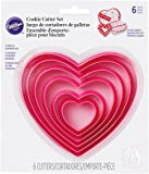 Wilton Decora 6 Pieces Nesting Heart Cutter Set, Multicolour
