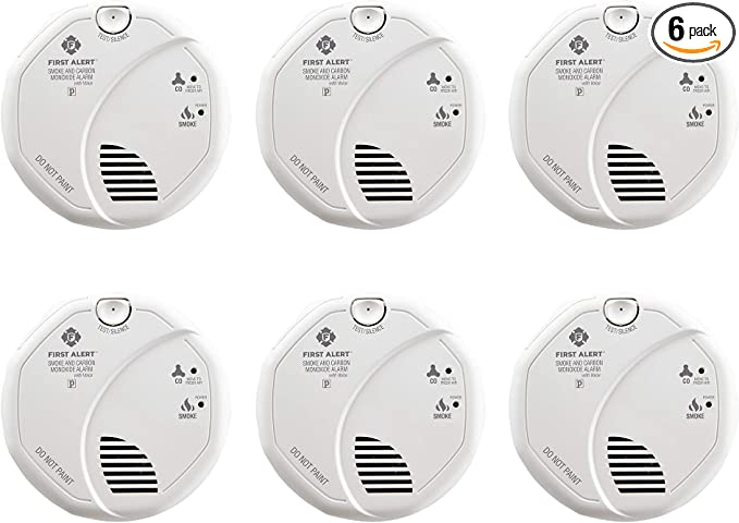 2 Pack First Alert BRK SC7010BV Talking Photoelectric Smoke and CO Detector