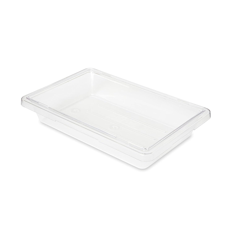 Rubbermaid Commercial FG330700CLR Food/Tote Box, 2-gallon