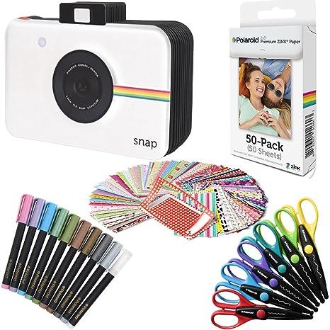 Polaroid papel fotográfico ZINK Premium 2x3 pulgadas (50 hojas) + Cuaderno de recortes Snap