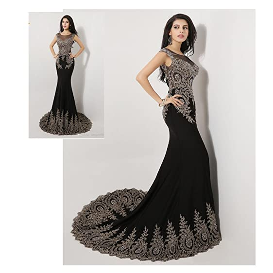 Luxury Evening Prom Dresses Appliques Celebrity Wedding Gowns India Arabic (2)