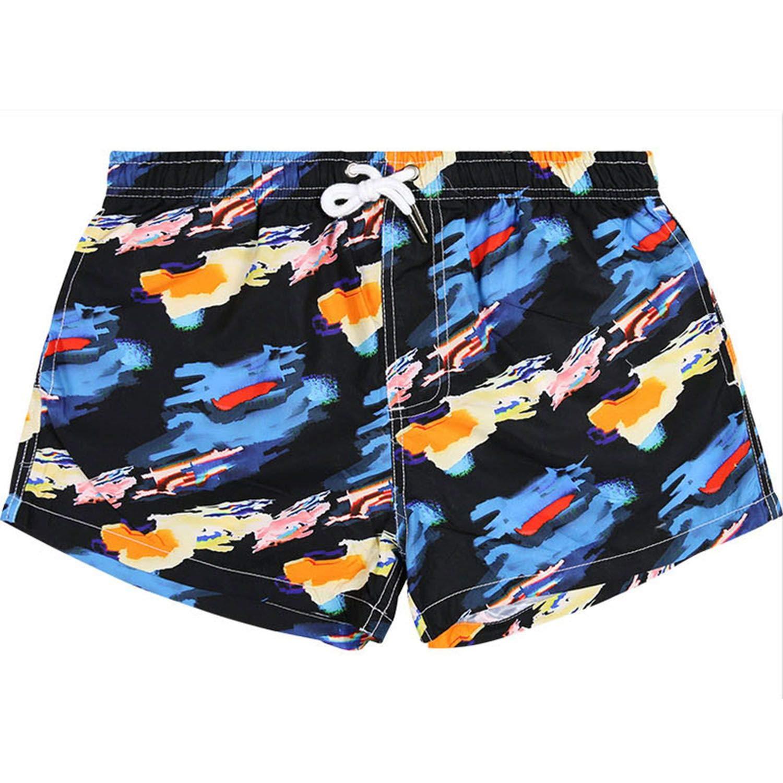 haode Mens Printed Board Shorts Man Beach Pants Quick Dry Surfing Shorts Man Loose Swim Trunks Maldive Swimming Short XL Colorful Cloud M