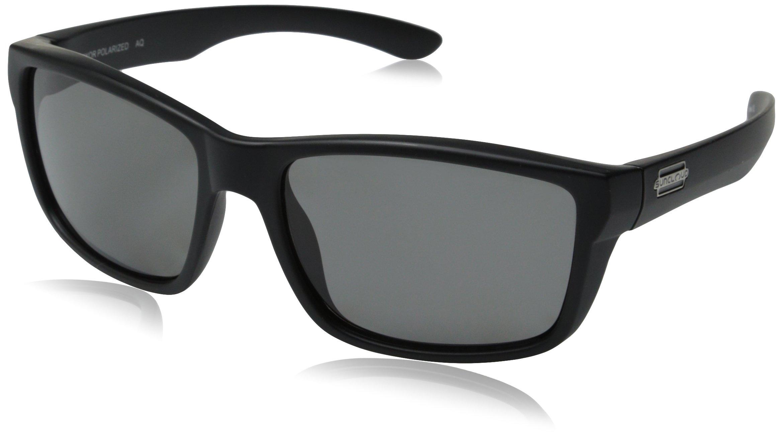 Suncloud Mayor Polarized Sunglasses, Matte Black Frame, Gray Polycarbonate Lenses